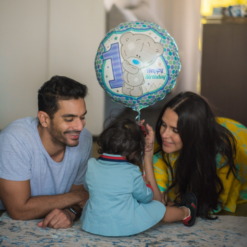 Neha Dhupia, Angad Bedi celebrate their daughter Mehr's first birthday & her post is too cute for words