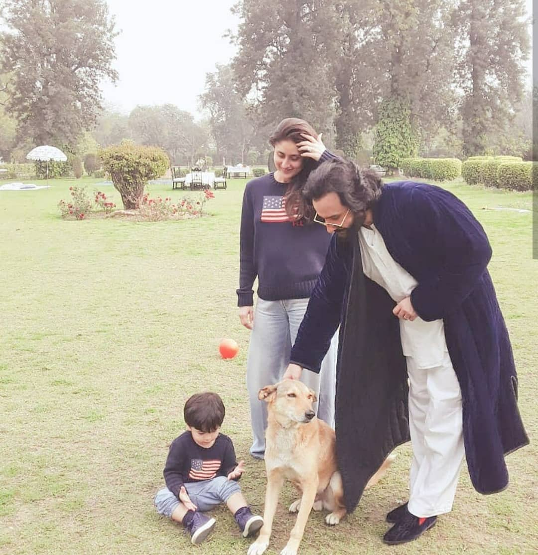 Image result for Kareena Kapoor Khan and Taimur twin as they spend quality family time with Saif at Pataudi palace