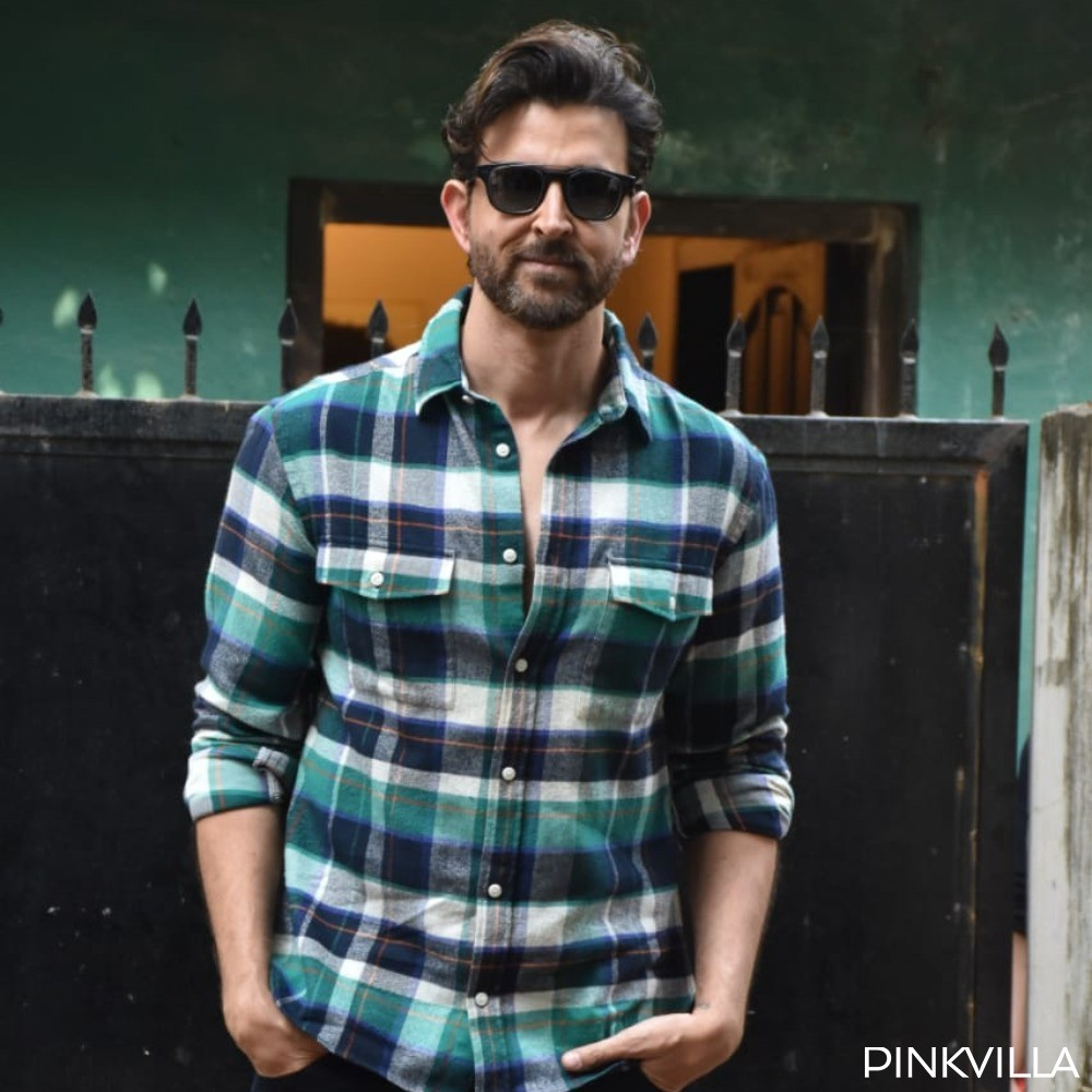 PHOTOS: Hrithik Roshan styles up a casual shirt & jeans with a pair of sunnies as he steps out post a meeting