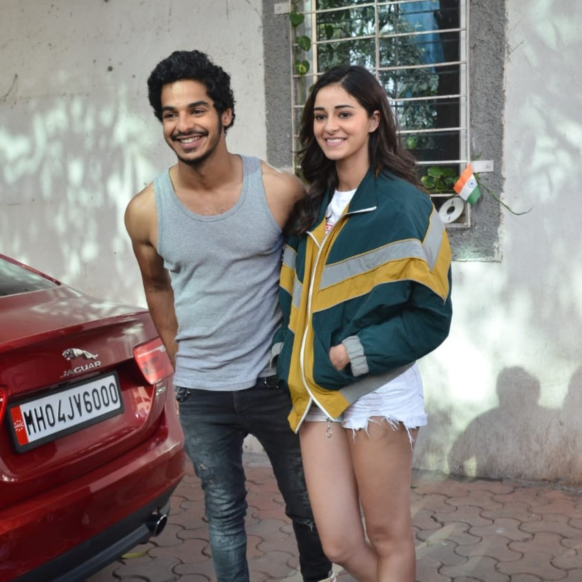 Ananya Panday is all smiles as she poses with Khaali Peeli co star Ishaan Khatter post dance rehearsal