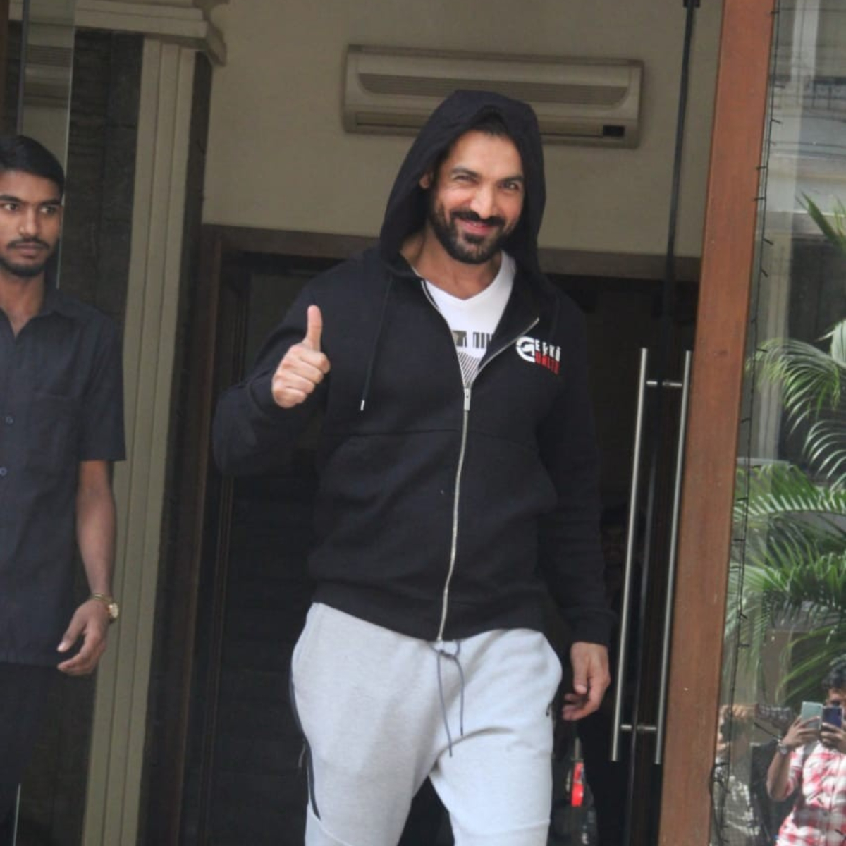 PHOTOS: John Abraham shows off his cool swag in a black hoodie when snapped in the city