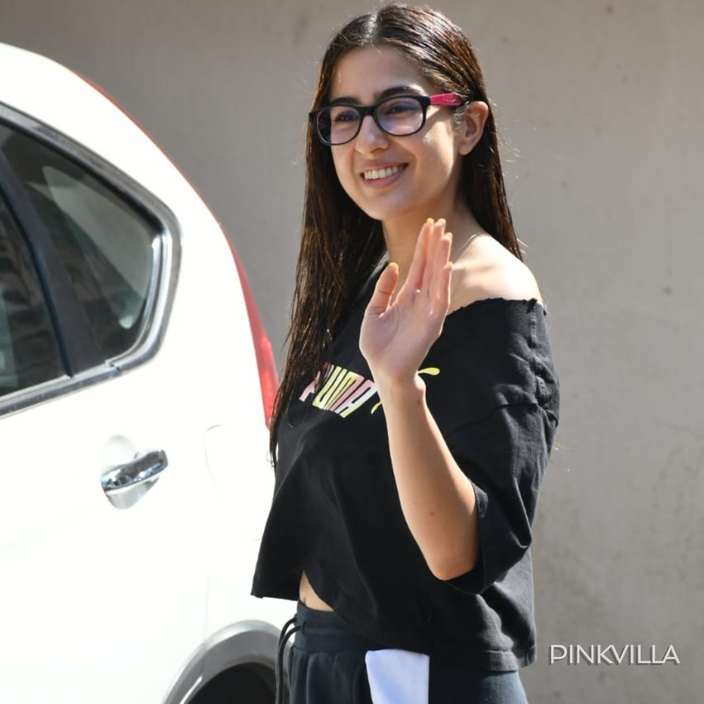 PHOTOS: Sara Ali Khan flaunts a pair of stylish black frames as she steps out of her Pilates class