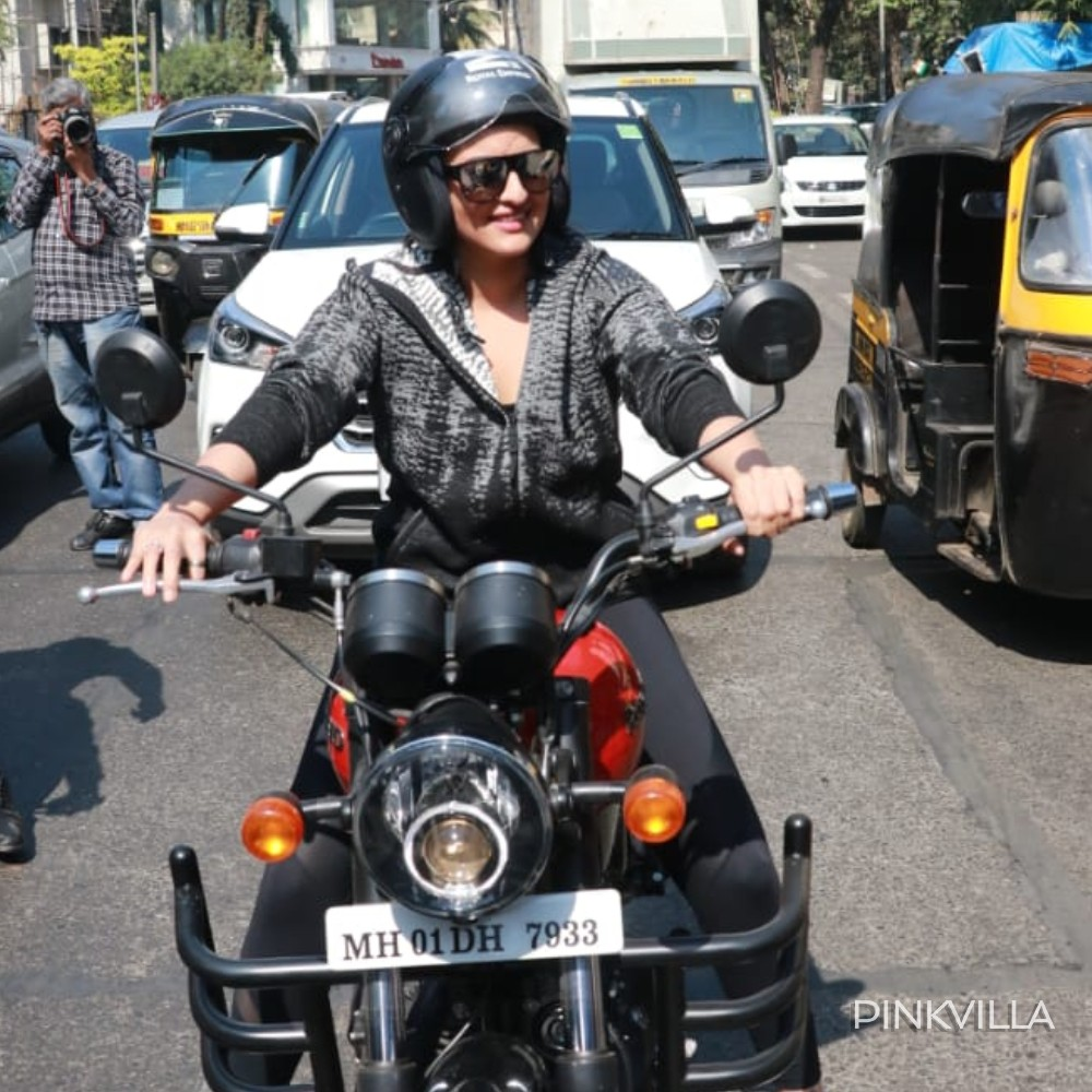 PHOTOS: Sonakshi Sinha makes a stylish appearance; enjoys a bike ride in the city