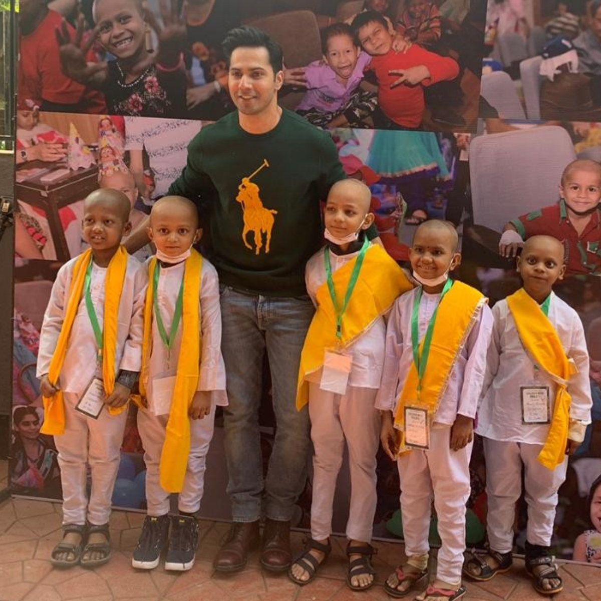 PHOTOS: Varun Dhawan joins children fighting cancer; Performs with the kids and doctors