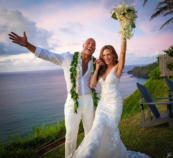 Dwayne Johnson marries longtime love Lauren Hashian in intimate Hawaiian ceremony
