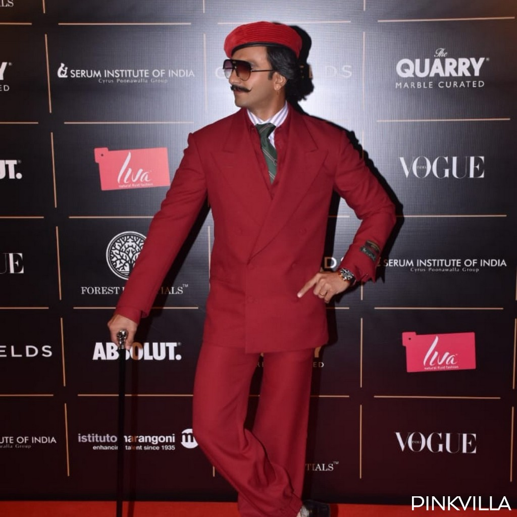 PHOTOS: Ranveer Singh's red suit for the Vogue Awards is a mix of suave and uber cool