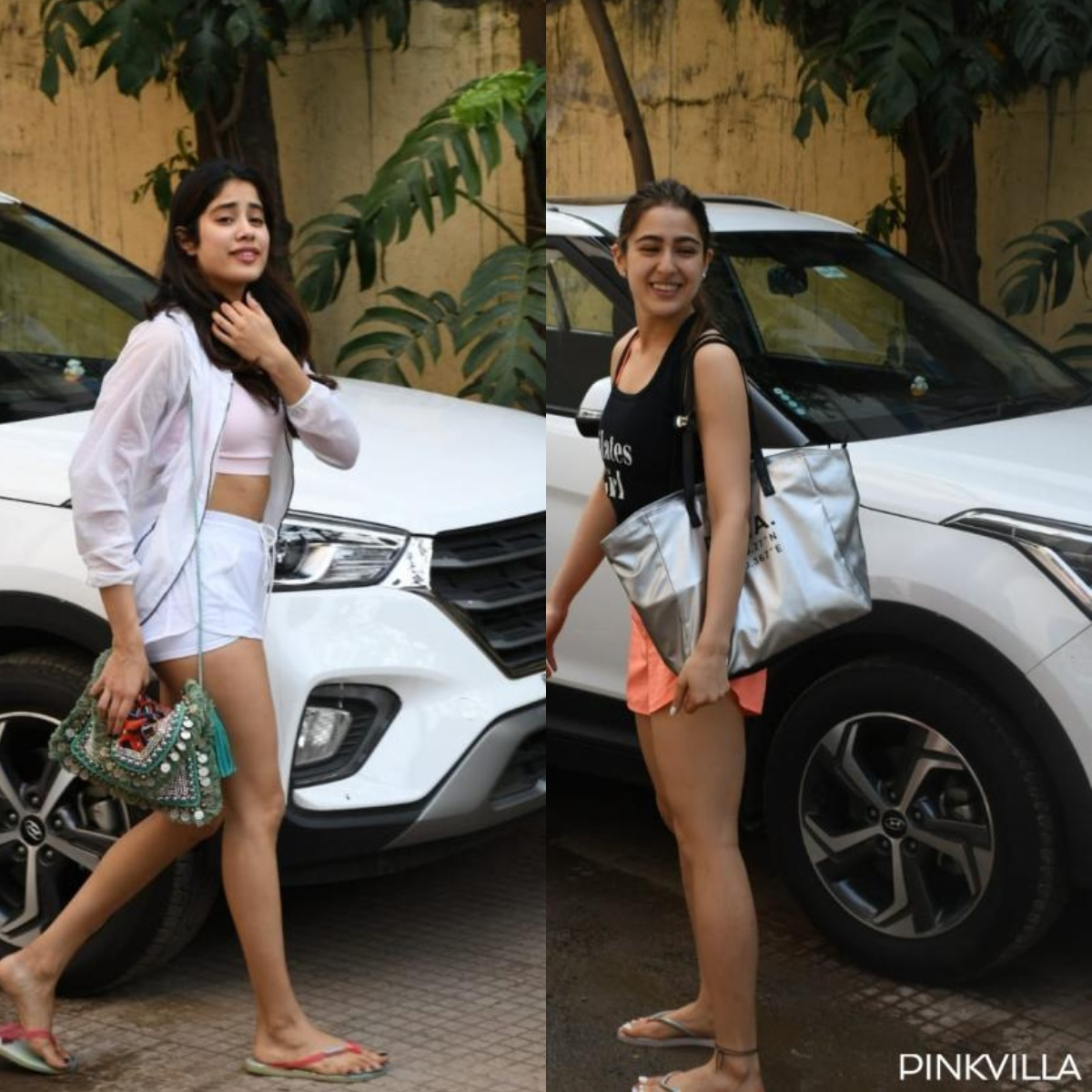 Sara Ali Khan & Janhvi Kapoor are winning over the internet as they wave to fans outside gym; watch VIDEO