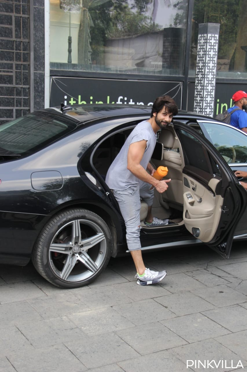 PHOTOS: Shahid Kapoor redefines cool and casual as he steps out of the gym nailing an all grey look