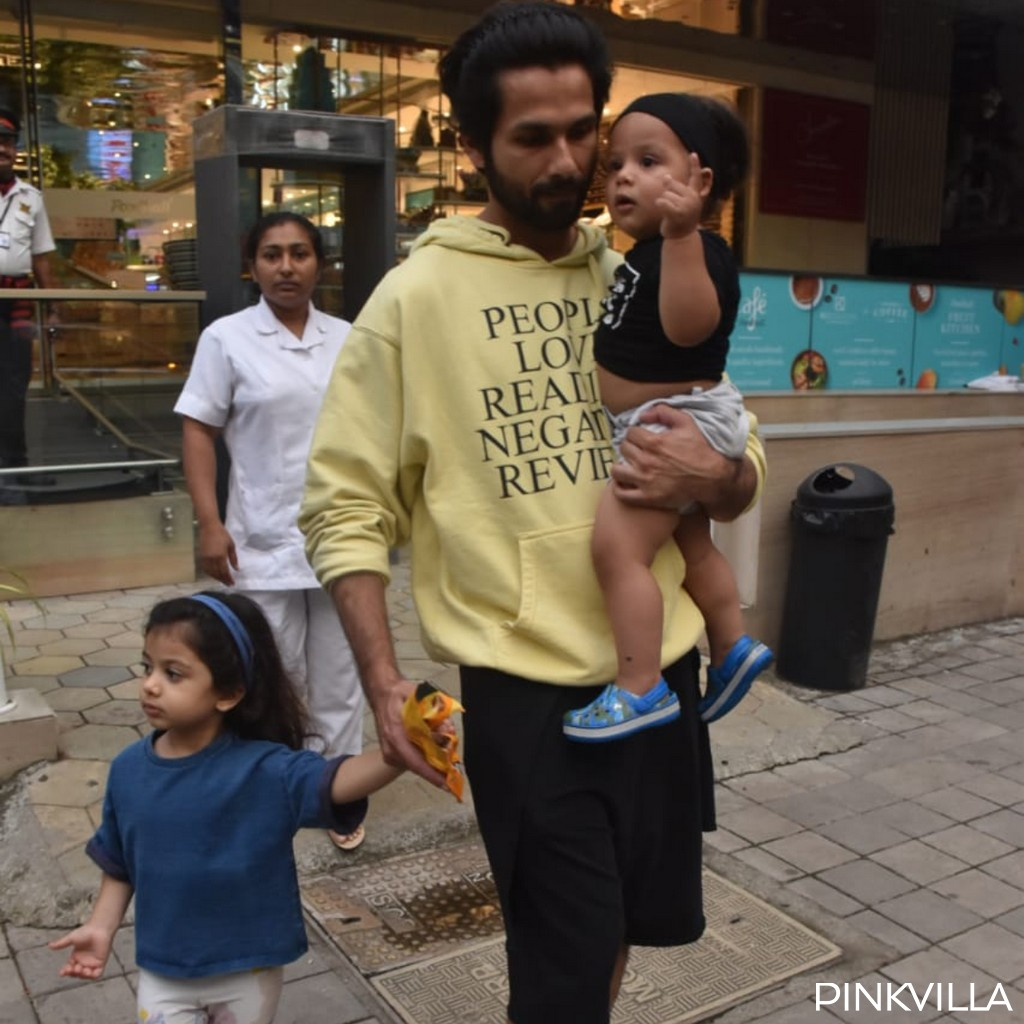 PHOTOS: Shahid Kapoor makes for a doting father as he takes kids Misha and Zain on a day out