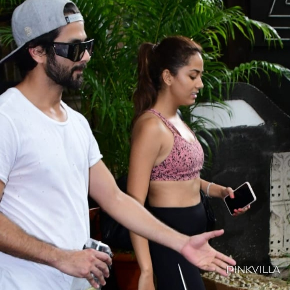 PHOTOS: Shahid Kapoor & Mira Rajput give us major couple goals as they head out for a workout session together