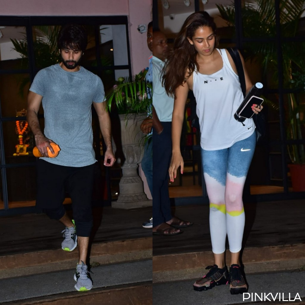 PHOTOS: Shahid Kapoor and Mira Rajput ward off their Monday blues as they hit the gym together
