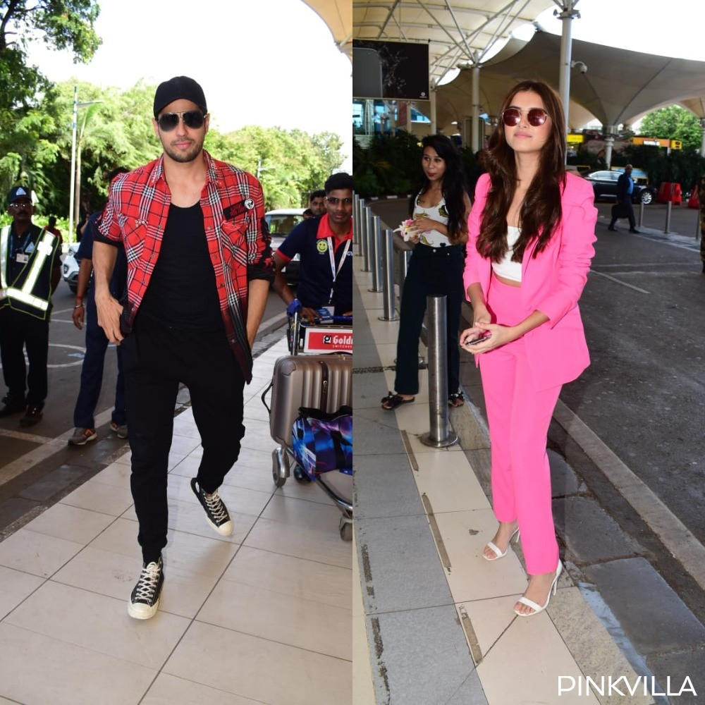 PHOTOS: Sidharth Malhotra and Tara Sutaria step out in their stylish best as they get papped at the airport