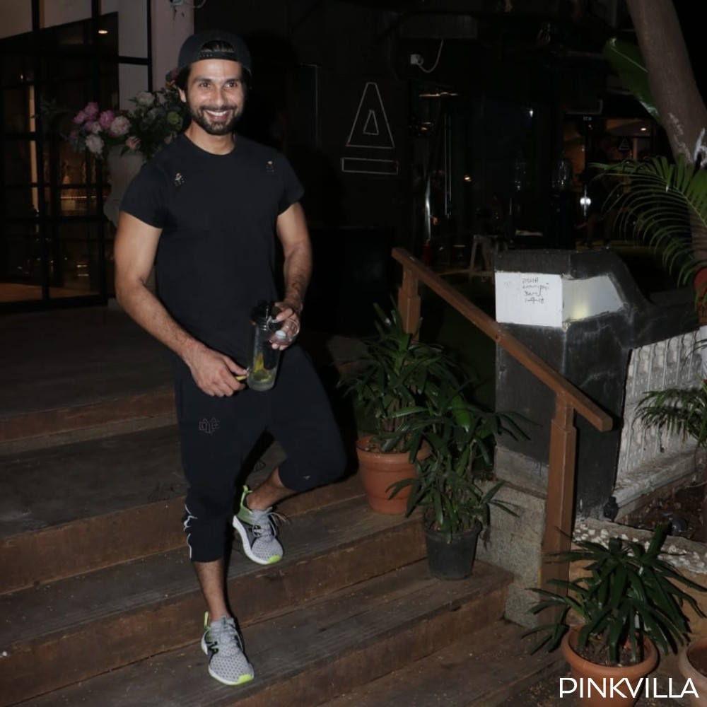 Shahid Kapoor looks content and all pumped up as he steps out of the gym; View pics