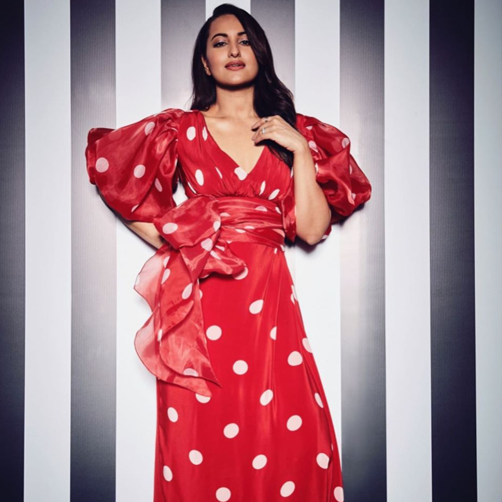 PHOTOS: Sonakshi Sinha paints a pretty picture in a red polka dot dress, Check it out