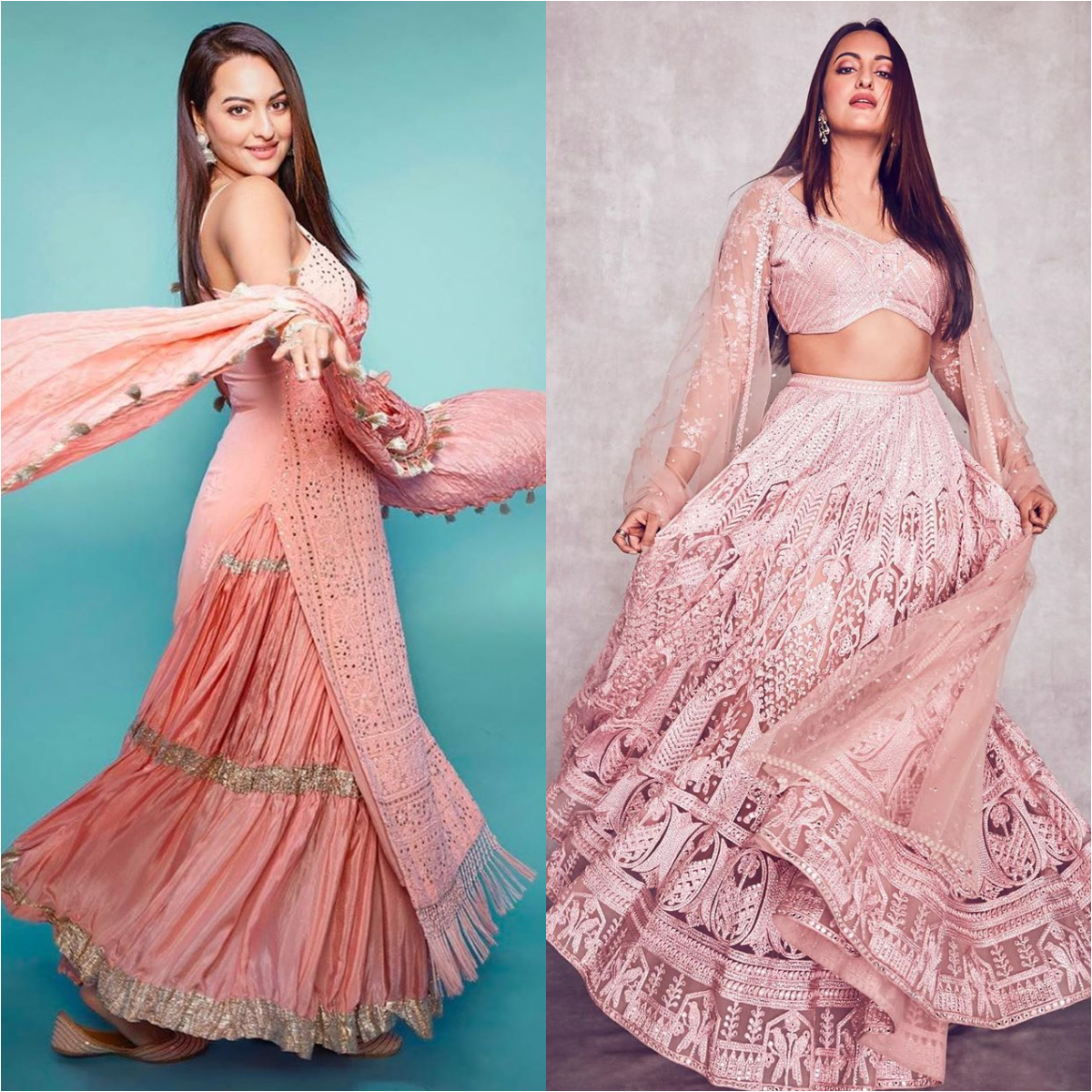 Sonakshi Sinha is 'Feeling Pink' in two gorgeous outfits for Dabangg 3 promotions & we are all for it