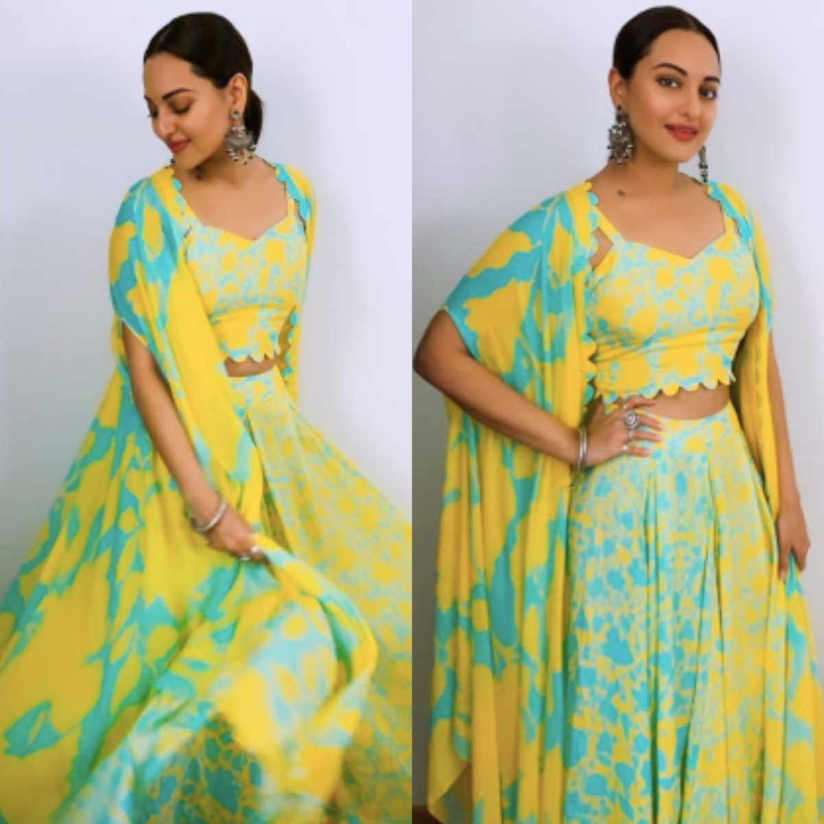 Sonakshi Sinha shows you how to keep it colourful this Diwali in a gorgeous indo western outfit