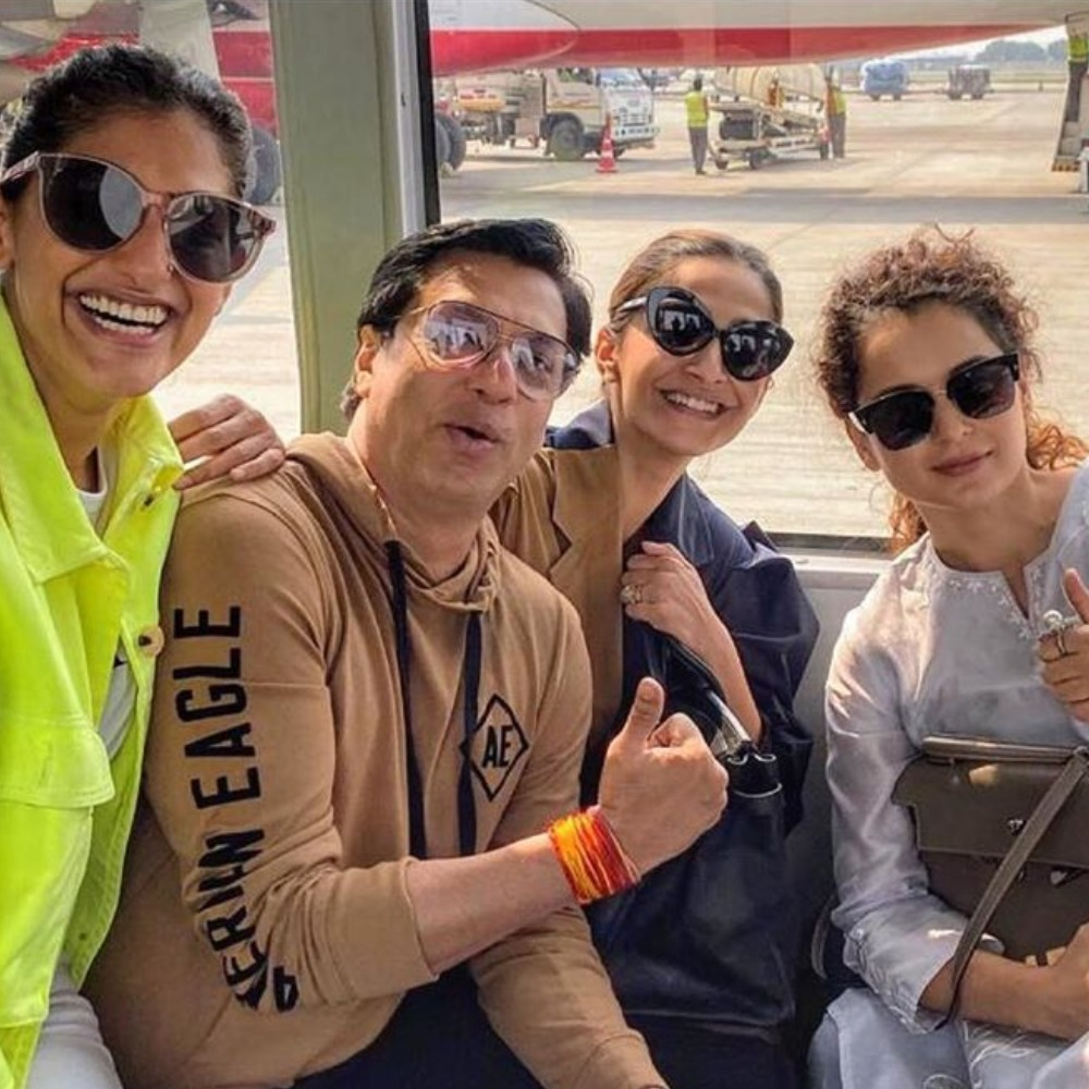 Kangana Ranaut, Sonam Kapoor pose together for the first time post Me Too spat; Kubbra Sait, Madhur join in