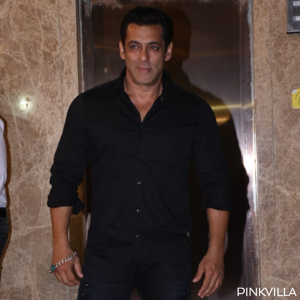 PHOTOS: Salman Khan looks suave in an all black outfit as he arrives to attend a party