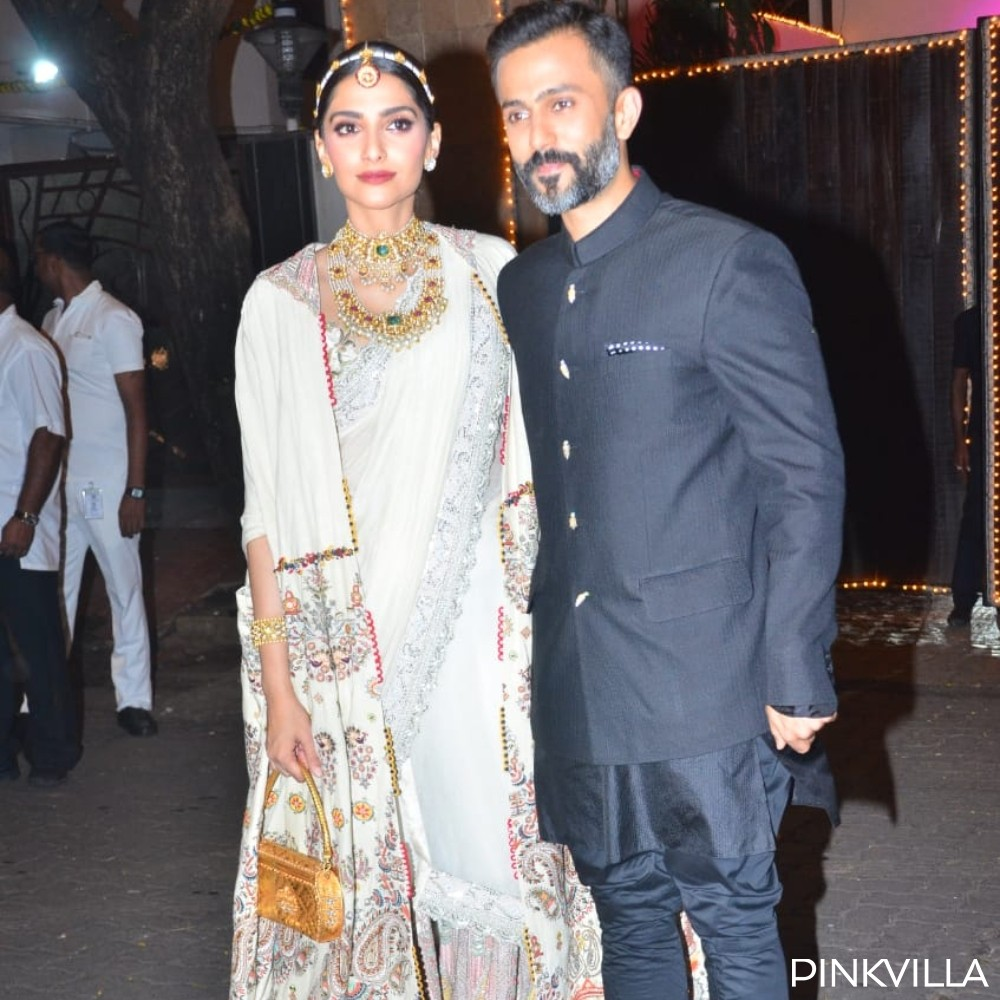 Diwali 2019: Sonam Kapoor & husband Anand Ahuja look elated as they strike a pose amidst celebrations