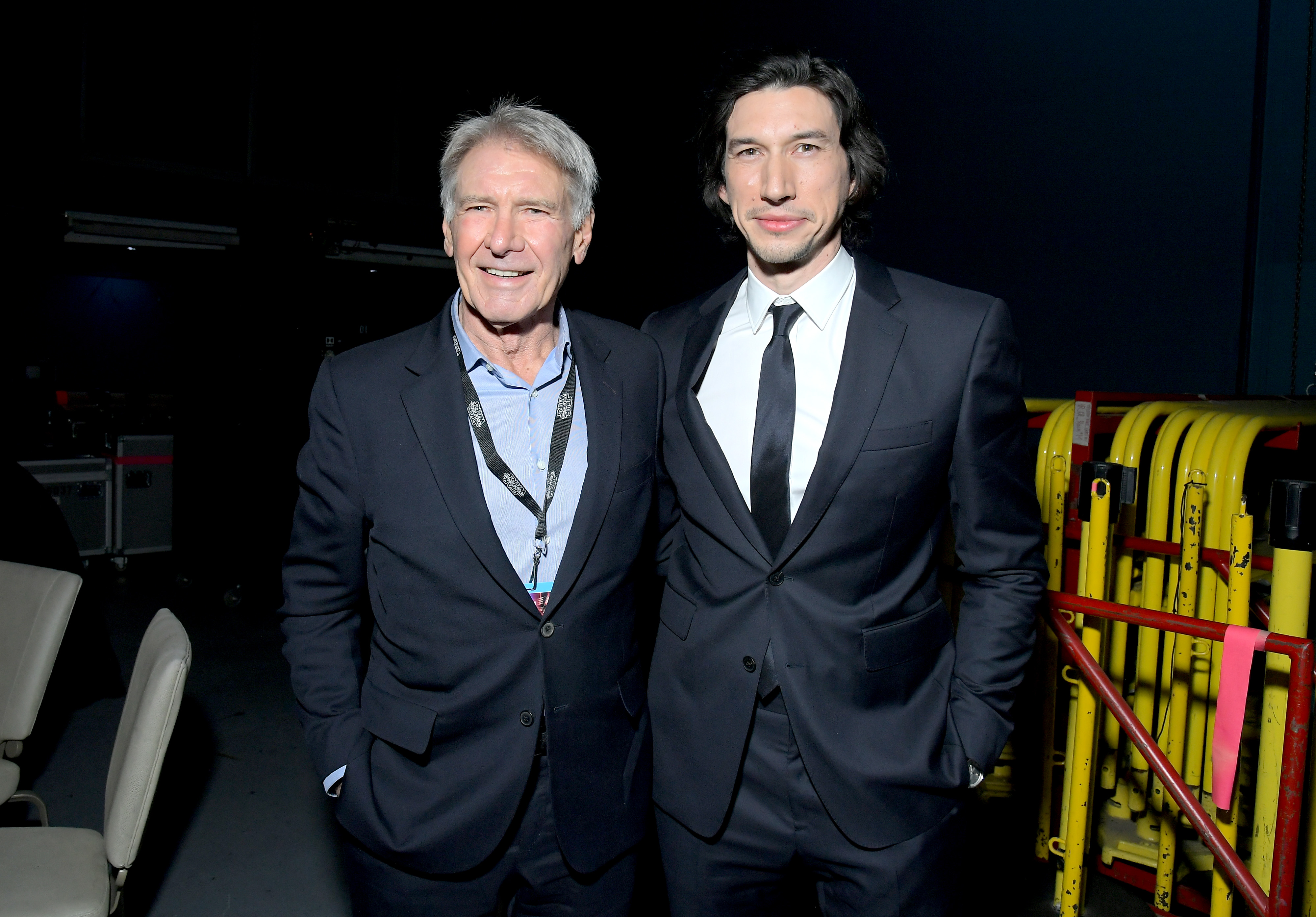 Star Wars The Rise Of Skywalker Premiere Harrison Ford Makes Surprise Appearance Reunites With Adam Driver Pinkvilla
