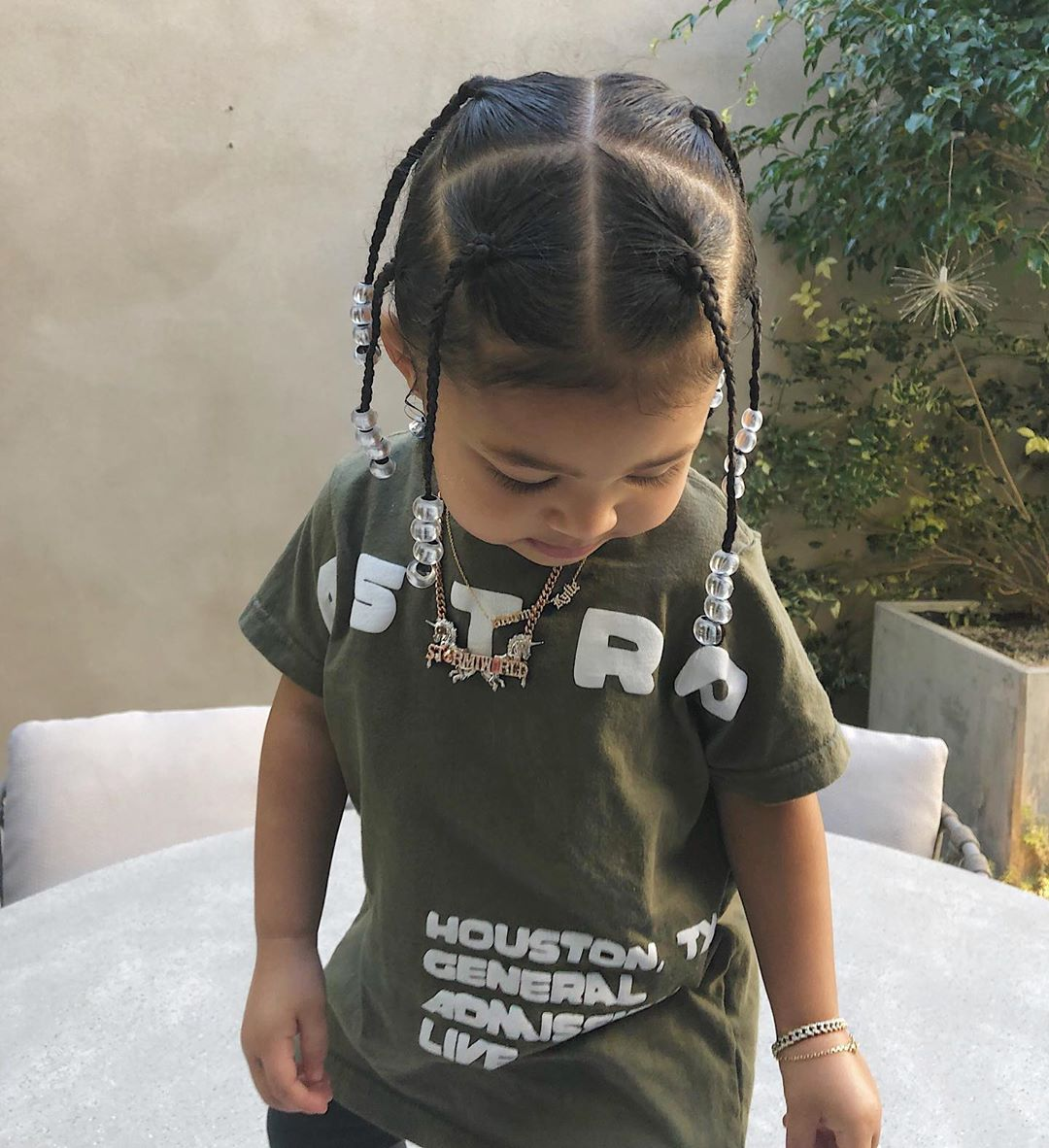 Travis Scott and Kylie Jenner's daughter Stormi Webster rocks braids just like her rapper dad; See Pic