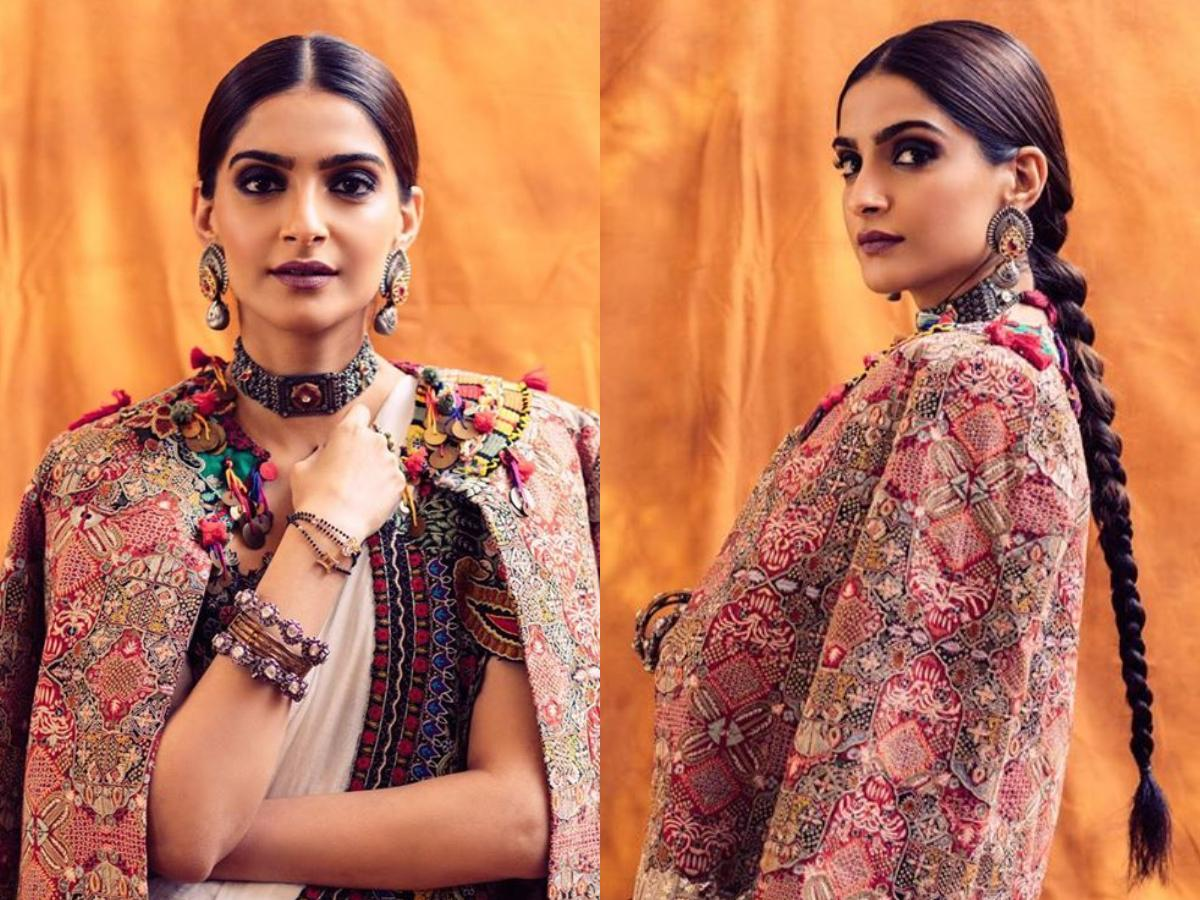 Sonam Kapoor S Modern Take On The Traditional Saree Is Perfect For You To Rock This Festive Season Pinkvilla