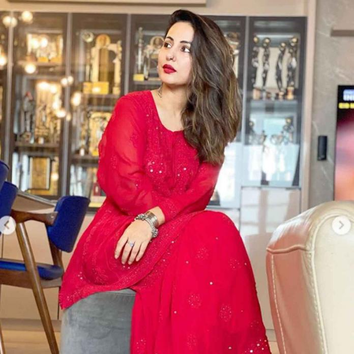 Eid 2021: Hina Khan nails the desi girl look in sharara as she sends best wishes on the holy occasion   PINKVILLA