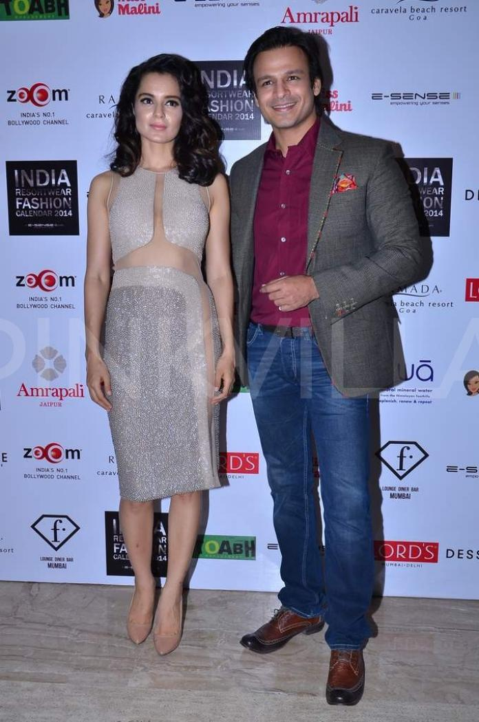 Kangna, Vivek at the India Resortwear Calendar launch | PINKVILLA