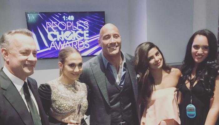 Photos,Priyanka Chopra,People's Choice Awards,Jennifer Lopez,Dwayne Johnson,Tom Hanks,Baywatch,The Rock,PCA's,Simone Johnson