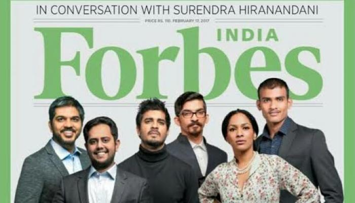 Magazine Covers,masaba gupta,forbes,Tahir Raj Bhasin,Tapsee Pannu,Forbes 30 under 30,Forbes 30 under 30 2017