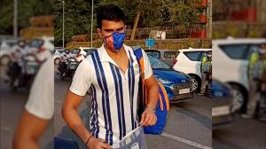 Guess who ripped off his PPE kit as soon as Mumbai Indians landed home?