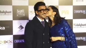 THROWBACK: Find out how Deepika Padukone surprised Ranveer Singh & why he blushed at a movie screening