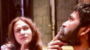 Dhanush and wife Aishwarya share a loving bond with their ...