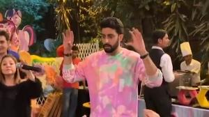 Doting father! Abhishek Bachchan CUTELY dances on Aaradhya's 7th birthday for her friends