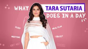 Everything Tara Sutaria does in a day