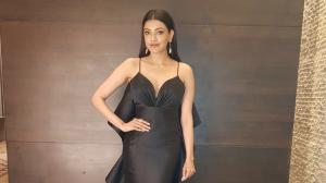Kajal Aggarwal's splendid looks in black outfits won't let you take your eyes off her