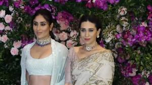 Kareena and Karisma dazzle in an exquisite traditional ensemble