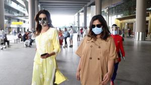 Karishma Tanna goes desi & Richa Chadha sports casual as they are spotted at the airport