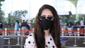 Nushrratt Bharuccha refuses to remove her mask as she is papped at the airport