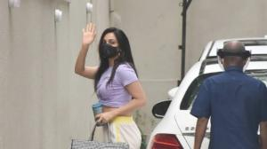 PHOTOS: Kiara Advani keeps it casual as she is snapped outside Karan Johar's office