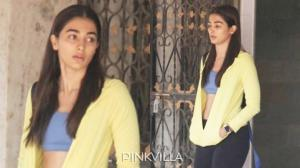 PHOTOS: Pooja Hegde rocks her no makeup look as she gets p...