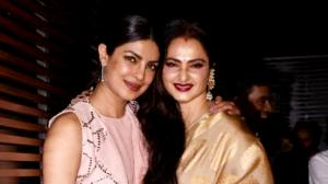PHOTOS: When Priyanka Chopra Jonas and veteran star Rekha greeted each other and posed for the shutterbugs
