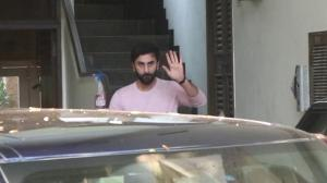 Ranbir Kapoor snapped at Alia Bhatt's residence to celebrate Soni Razdan's birthday