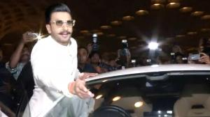 Ranveer being possessive about his car as media bumps into it