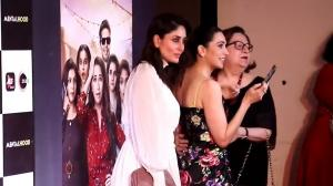 Rare moment! Kareena and Karisma with mom Babita strike a pose at the Grand Premiere of Mentalhood G(OLD)