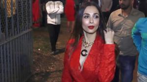 THROWBACK: When Malaika Arora arrived with son Arhaan Khan in a red pantsuit