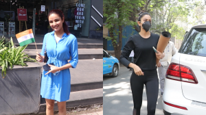 JAI HIND!! Jasmin Bhasin wishes paparazzi; Rakul Preet Singh heads out for yoga session; WATCH