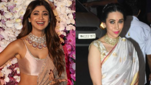 EVERGREEN BEAUTIES !!Shilpa Shetty Kundra OR Karisma Kapoor? Whose saree would you love to steal for your next