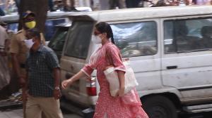 Sara Ali Khan arrives at the NCB office for questioning in drug case