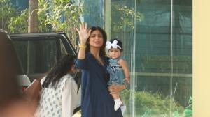 Shilpa Shetty Kundra steps out with daughter Samisha & the little munchkin's outfit is too adorable